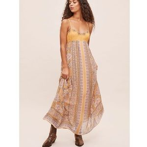 New Anthropologie beautiful embroidered maxi dress